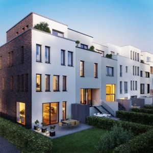 Moderne Townhouses in Uhlenhorst: upTOWNHOUSES - designed by 8 architects. Foto: ICON IMMOBILIEN