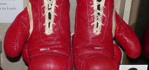 Die Boxhandschuhe von Muhammad Ali.