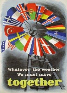 Die US-Regierung warb in Europa mit Plakaten für den Marshallplan.
