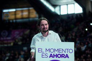 Dr. Pablo Iglesia ist Chef der linken Oppositionspartei Unidos Podemos.