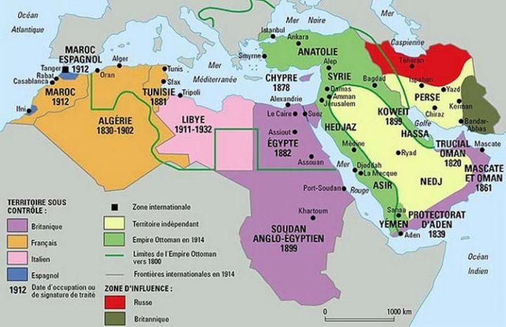 Die Situation im Nahen Osten vor dem Ersten Weltkrieg.