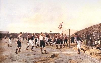 A Corner Kick, Sunderland v. Aston Villa von Thomas M. M. Hemy, 1895