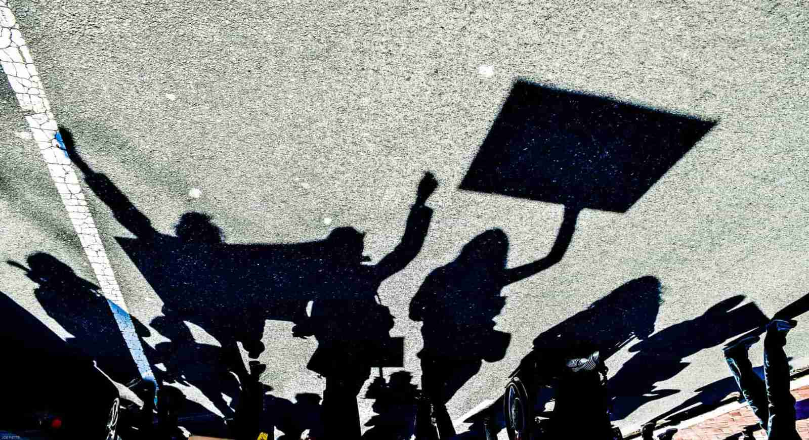 Protest by Joe Plette (flickr.com) CC BY-NC 2.0
