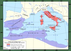 Karthago und das Römische Imperium kämpften um die Vormachtstellung im Mittelmeerraum.