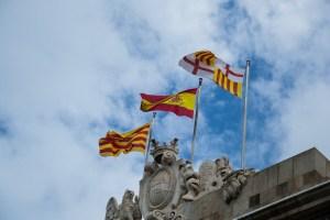 Flagge Spanien Barcelona Katalonien (Foto: pxhere.com; CC0)