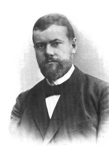 Der Soziologe Max Weber 1894.
