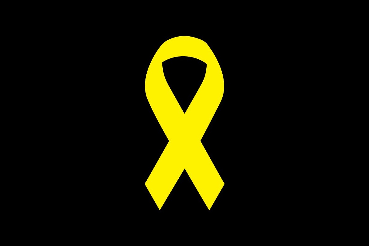 Die Gelbe Schleife ist auch in Katalonien ein Zeichen der Solidarität. (Grafik: Neue Debatte)