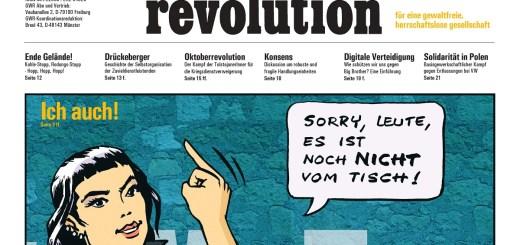 Graswurzelrevolution. Titel der Ausgabe aus dem Dezember 2017. (Foto: Graswurzelrevolution)