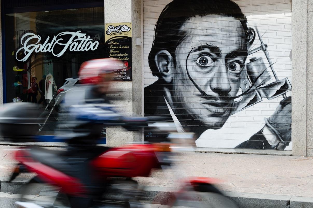 Salvadore Dali Street Art. (Foto: Luis Alvarez Marra,Flickr.com, LizenzCC BY 2.0)