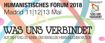 Das Humanistische Forum findet 2018 in Madrid statt.