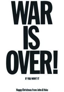 Poster der Friedenskampagne von John Lennon und Yoko Ono aus dem Jahr 1969. (Foto: Gemeinfrei)