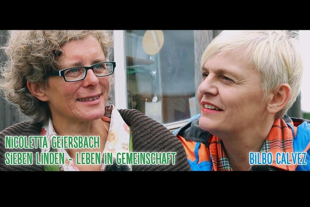 Nicoletta Geiersbach und Bilbo Calvez im Gespräch über Sieben Linden und das Leben in Gemeinschaft. (Foto: Bilbo Calvez)