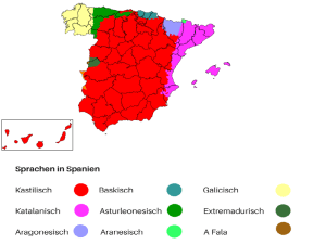 Sprachen in Spanien. (Grafik: Neue Debatte; gemeinfrei)