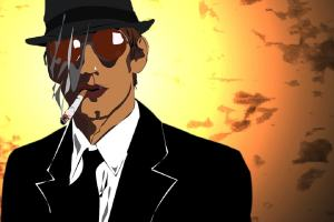 Comic. Mobster mit Zigarette. (Grafik: petikadlec, pixabay.com, Creative Commons CC0)