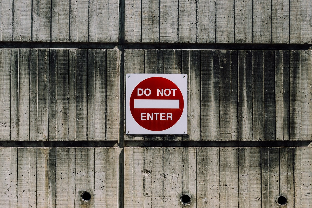 Do not enter. (Foto: Kyle Glenn, Unsplash.com)