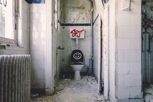 Eine zerstörte Toilette. (Foto: Gabor Monori, Unsplash.com)