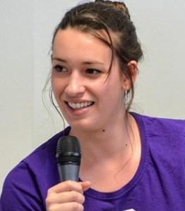 Sara García Toledano beim EHF 2018. (Foto: Pressenza)