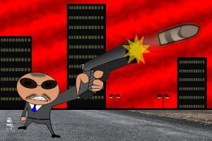 Comic Gangster. (Illustration: Conmongt, Pixabay.com; Creative Commons CC0)