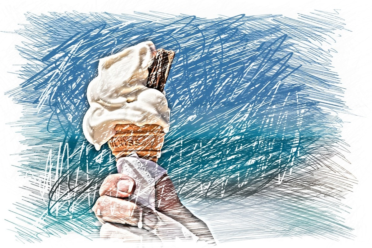 Eiscream in einer Waffel. (Illustration: Alexas_Fotos, Pixabay.com, Creative Commons CC0)