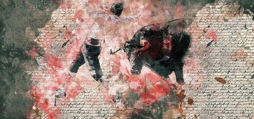 Stierkampf als Collage. (Illustration: efes, Pixabay.com,Creative Commons CC0)