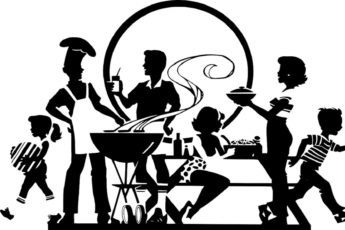 BBQ. (Illustration: Clker-Free-Vector-Images, Pixabay.com, Creative Commons CC0)