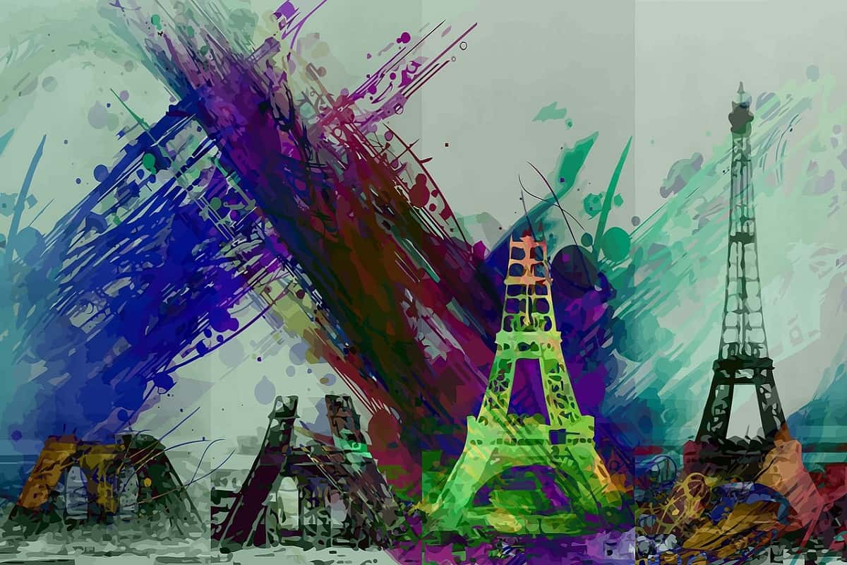 Künstlerische Darstellung des Eiffelturms in Paris. (Illustration: PitCrewProd, Pixabay.com, Creative Commons CC0)