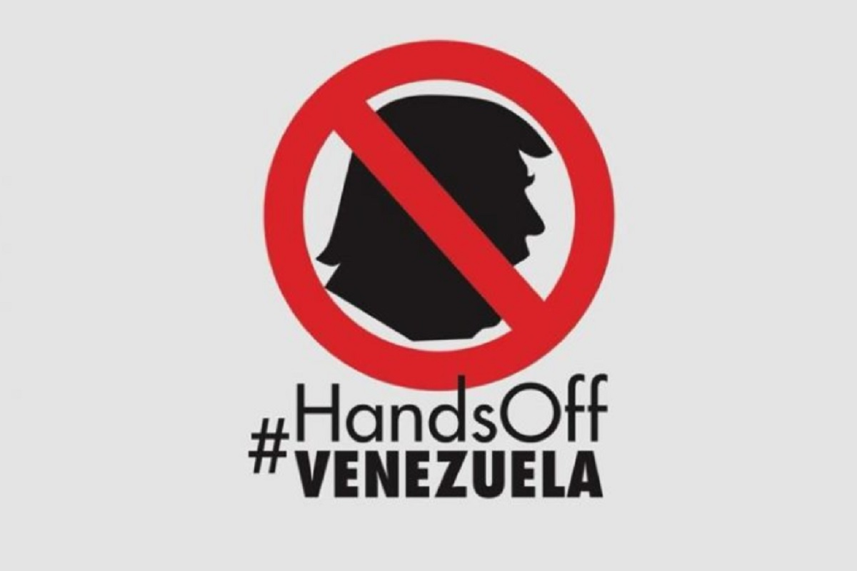 Hände weg von Venezuela. (Foto: Pressenza)