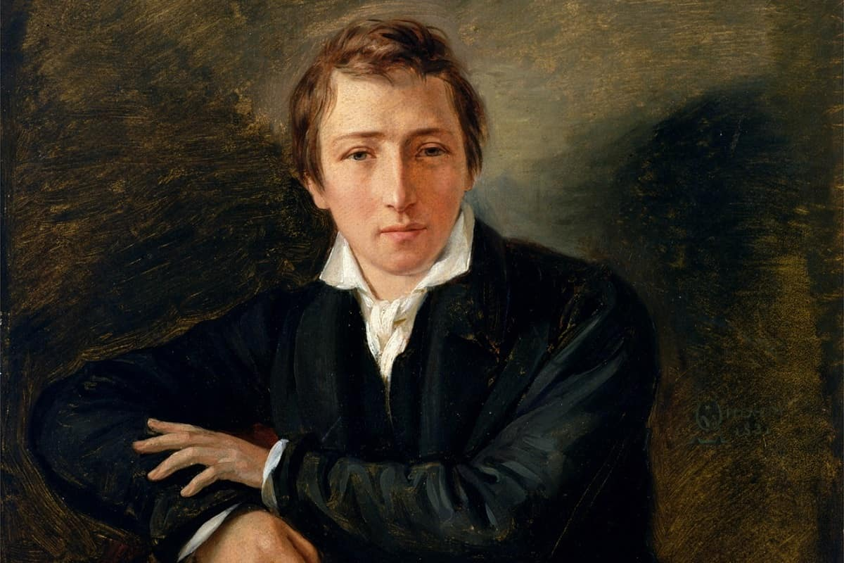 Heinrich Heine (Gemälde von Moritz Daniel Oppenheim, 1831; gemeinfrei; cropped)