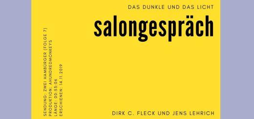 Dirk C Fleck Jens Lehrich im Salongespräch; Das Dunkle und das Licht. (Grafik: Neue Debatte)