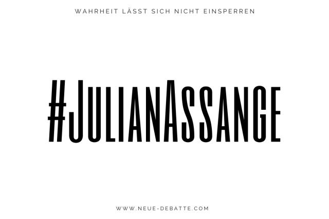 Julian Assange - WikiLeaks - Der Fall Julian Assange. (Illustration: Neue Debatte)