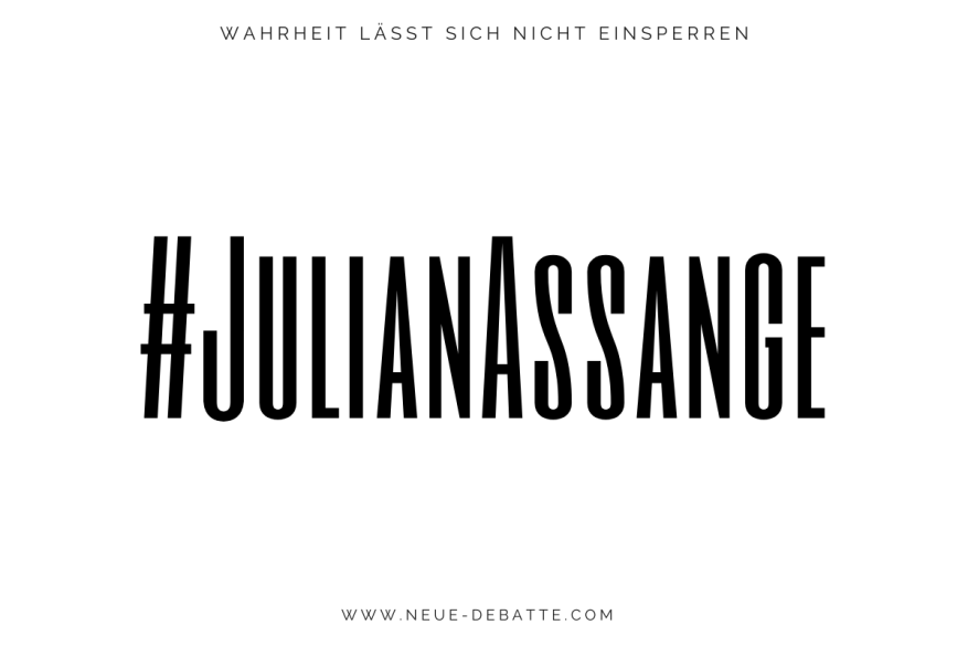 Julian Assange - WikiLeaks - Der Fall Julian Assange. (Illustration: Neue Debatte)