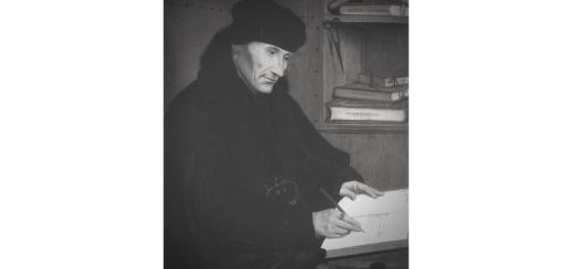 Erasmus von Rotterdam abgebildet von Quentin Massys 1517. (Illustration: Neue Debatte)