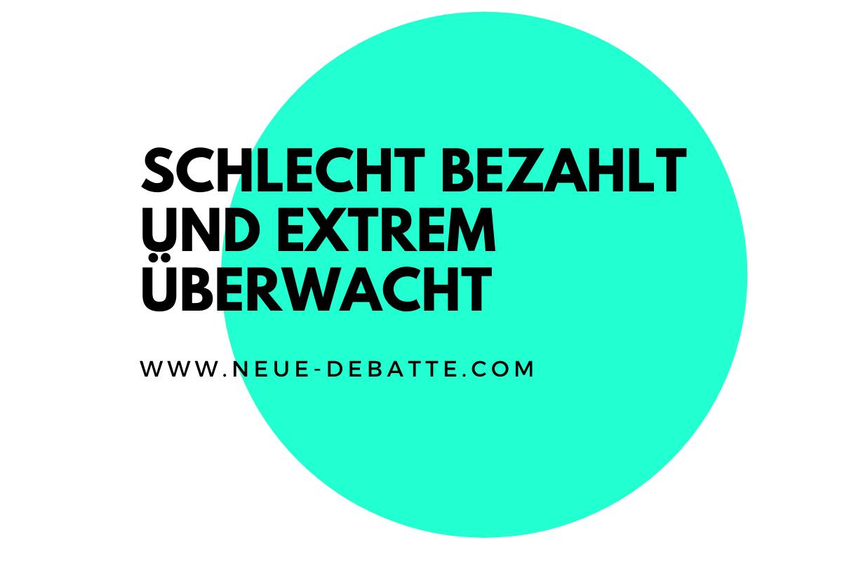 Prekäre Arbeit auf dem Vormarsch. Interview mit Werner Rügemer. (Illustration: Neue Debatte)
