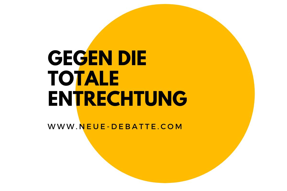 Anselm Lenz im Gespräch mit Jens Lehrich über das Grundgesetz und das Recht zum Widerstand. (Illustration: Neue Debatte)