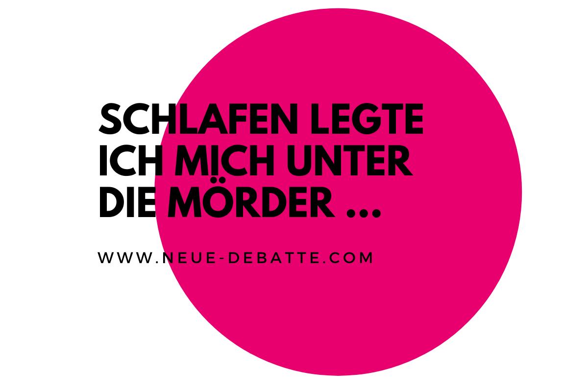 Eine philosophische Auseinandersetzung mit Bertolt Brecht und den Nachgeborenen. (Illustration: Neue Debatte)
