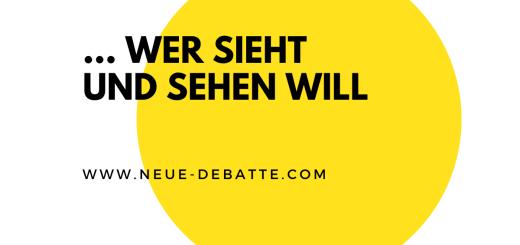 Eine Prosa von Frank Nöthlich zu Zielstellung und Wohlbehagen. (Illustration: Neue Debatte)