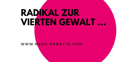Menschen und Journalismus ist ein Vortrag von Gunther Sosna aus 2018 zur Demokratisierung der Medien. (Illustration: Neue Debatte)