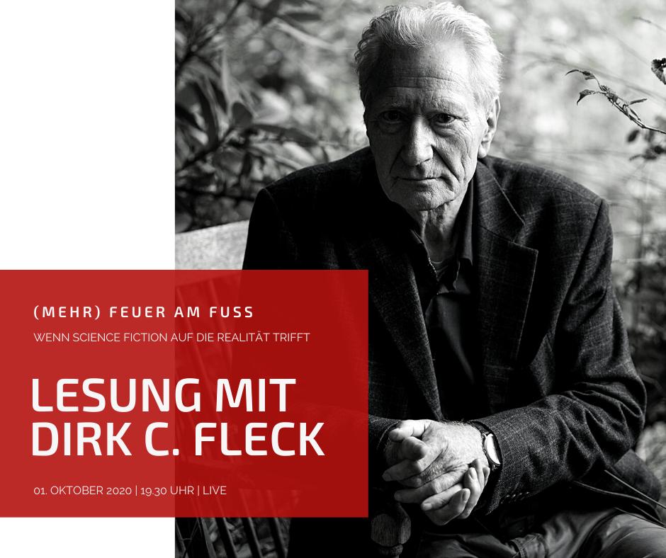 Mehr Feuer am Fuss - Lesung mit SciFi-Autor Dirk C. Fleck