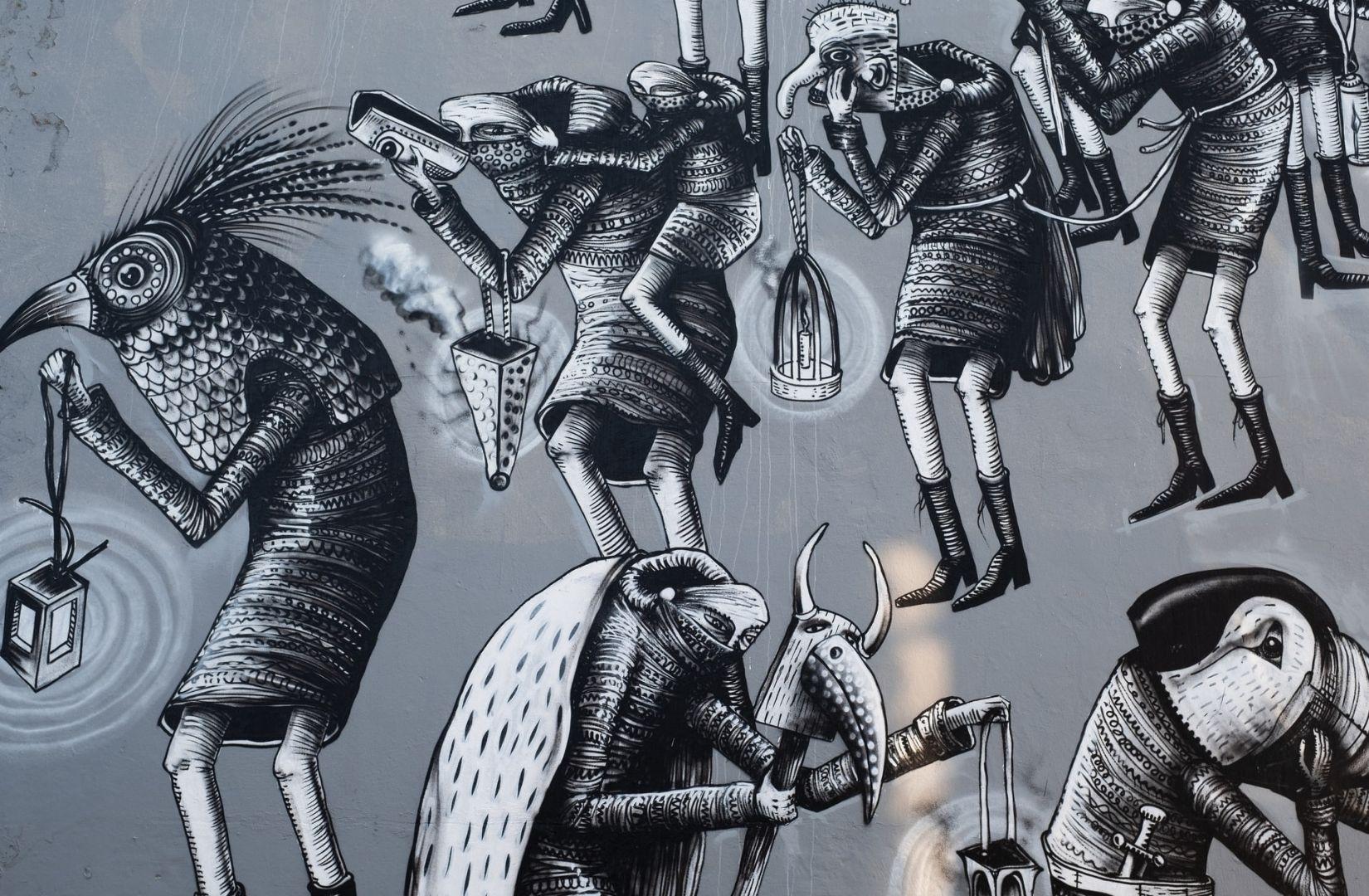 Mit Sūnzǐ Bīngfǎ hat das Graffiti-Wandbild in Reykjavik, Island, nichts zu tun. (Foto: Lance Anderson, Unsplash.com)
