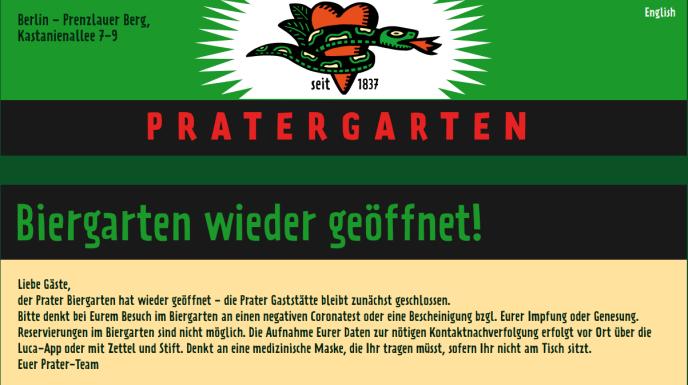 Hinweis Pratergarten Berlin (Foto: Rubikon)