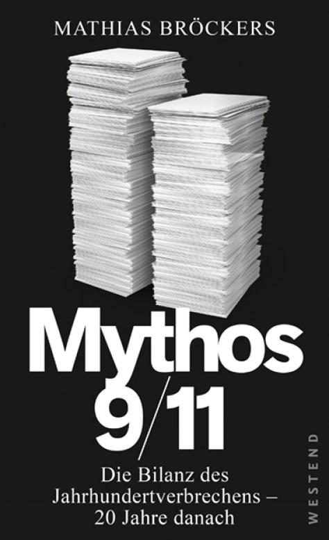 Sachbuch Mythos 9/11 von Mathias Bröckers. (Buchcover; Westend Verlag)