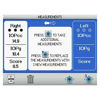 Reichert 7CR Non-Contact-Tonometer mit Bewertung der Hornhautdynamik Bildschirm