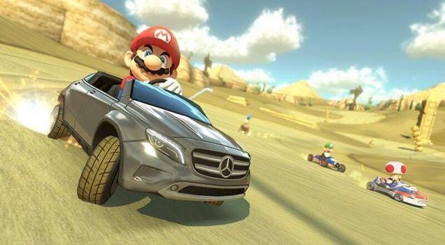 Super Mario Mercedes Kart 8