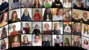 Digitaler Mädchen-Chor (Foto: Bistum Essen)