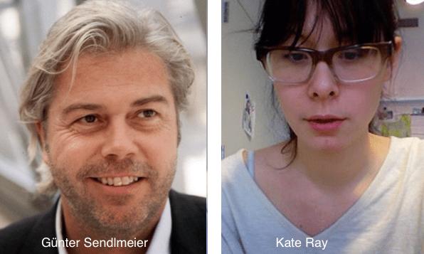 Günter Sendlmeier, CEO von Future Brand und Kate Ray, NYU Absolventin mit Web3.0 Video