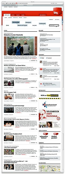 spd.de mit neuem Webauftritt