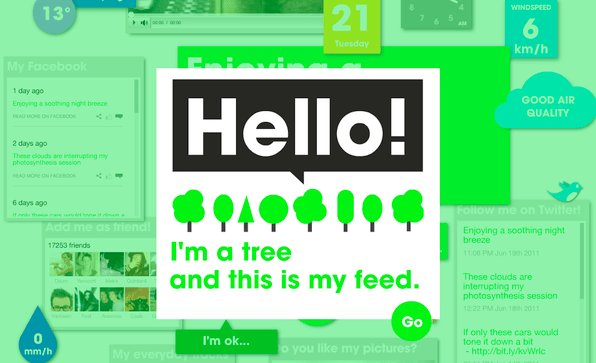 Ich bin ein Baum und das ist mein Feed