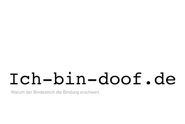 Ich-bin-doof.de