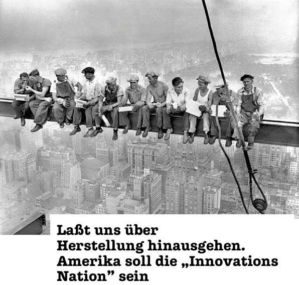 Amerika soll die Innovations Nation sein