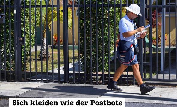 Sich kleiden wie der Postbote